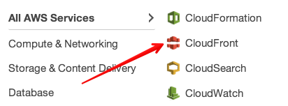 """Click Cloudfront in the AWS web console"""