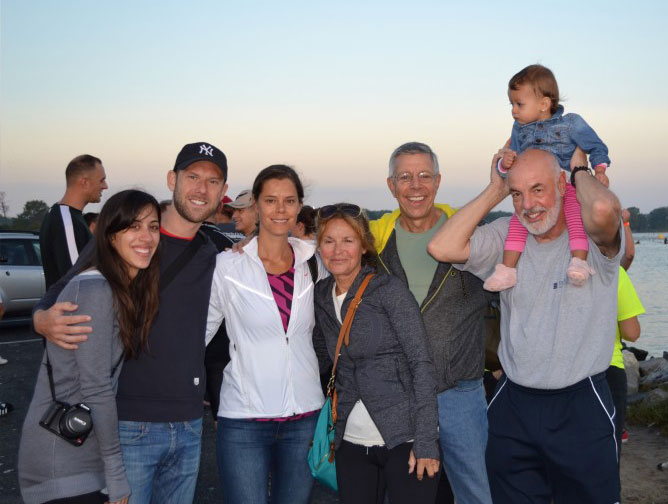 """My family at the Ironman"""