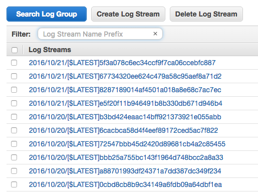 """AWS Cloudwatch log streams"""