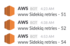 """Slack notifications for Sidekiq retries"""